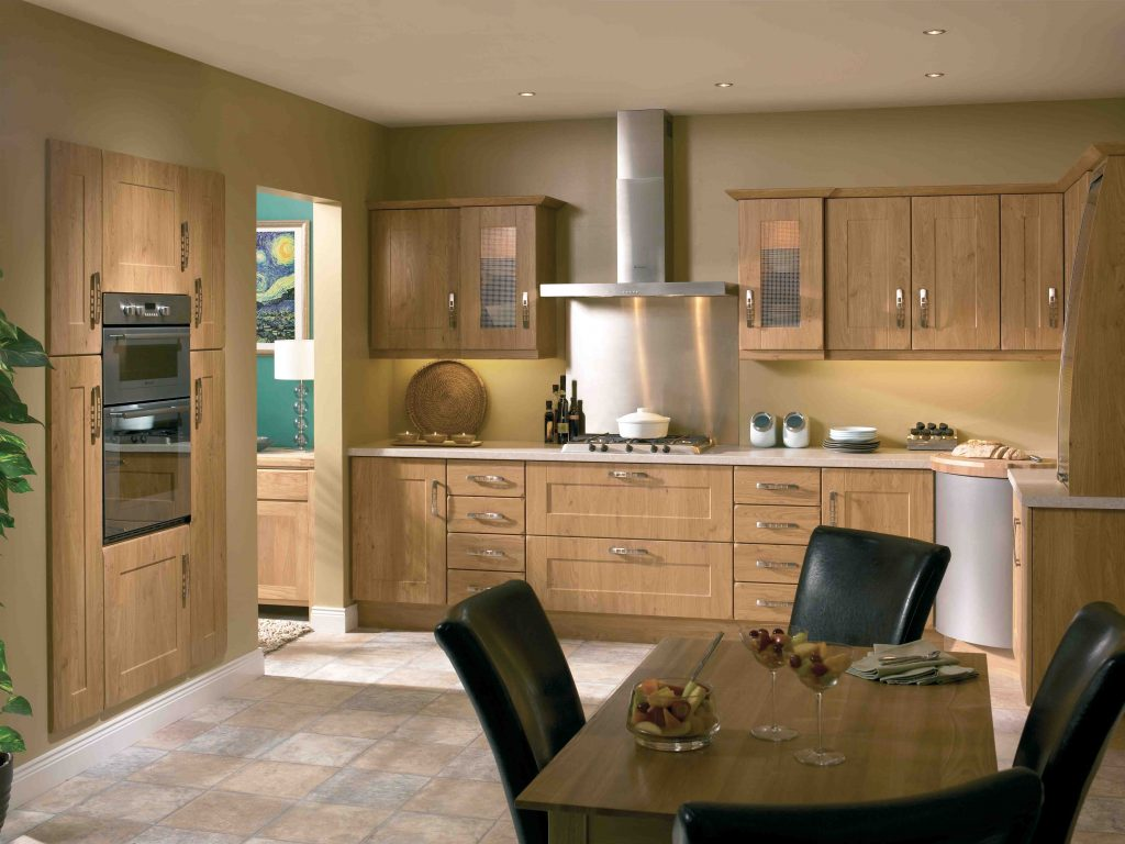 with is block complimented by solid cabinet oak dark worktop slate kitchen perfectly style wood pin door detail a grey doors this the our shaker grained fairford